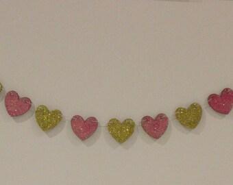 Sparkle Heart Garland