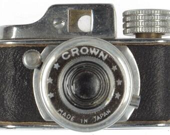 Vintage Japanese Crown Spy Camera Subminiature Miniature Travel Mini