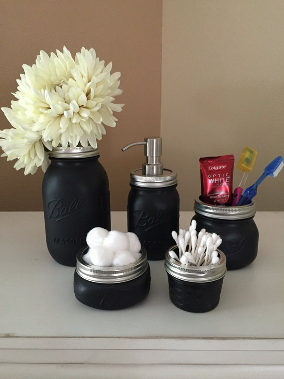 black mason jars bathroom set ball mason jars men 39 s