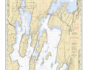 2004 Nautical Map of Lake Champlain New York