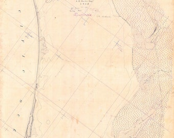 1852 Nautical Map of Part of San Diego Bay California