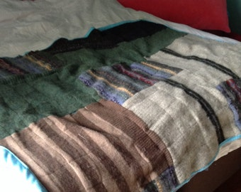 Upcycled wool quilt