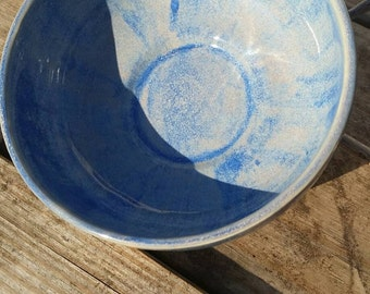 Blue and Tan Bowl