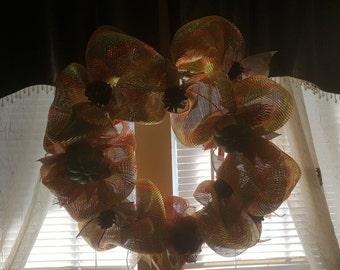 16 in deco mesh fall wreath