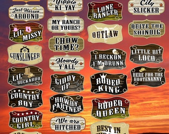 Western Props | Western Signs | Cowboy Props | Cowboy Signs | Photo Booth Props | Prop Signs