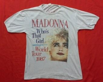 vintage madonna 80's t shirt