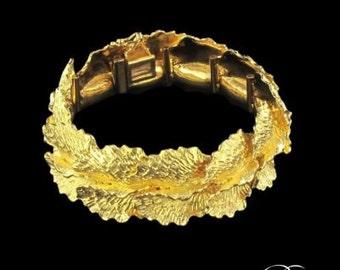 Bracelet gold leaf