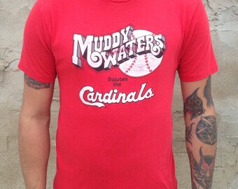 Cardinals Saint Louis baseball vintage t-shirt 1980s Muddy Waters Large