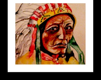 First Nations Watercolor Print