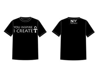 "NabzVision ""You Inspire I Create"" T Shirt"