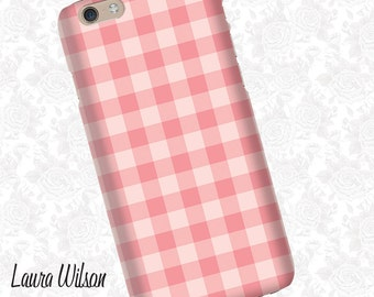 Pink gingham iPhone 6 Case, iPhone 5S Case, iPhone 5 Case, Cell Phone Cover, iPhone 5C Case, iPhone 6 Plus Case, Pattern iPhone case