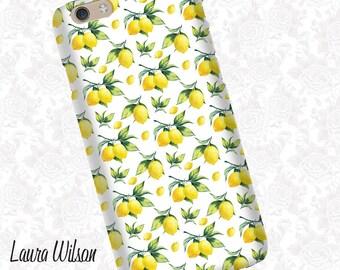 Lemon print iPhone 6 Case, iPhone 5S Case, iPhone 5 Case, Cell Phone Cover, iPhone 5C Case, iPhone 6 Plus Case, iPhone 6s case