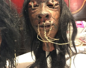One of a kind shrunken head