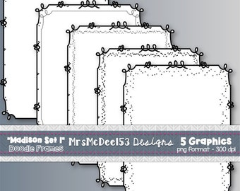 Scrappy Border Clipart Frames - Vector Graphics - {Madison Set 1}