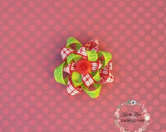 Christmas hair bow, hair accessories, hair clip