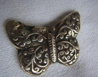 Butterfly Pendant Reversible Vintage Necklace - Nepal - HandCrafted with Fine Detailed Designs