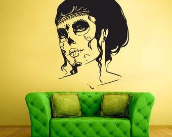 rvz456 Wall Vinyl Sticker Bedroom Decal Zomby Girl