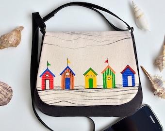 Canvas crossbody bag | Etsy
