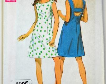 Uncut 1960s Simplicity Vintage Sewing Pattern 8183, Size 12; Misses' Jiffy Dress