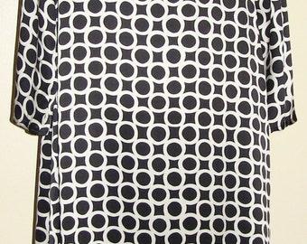 100% Silk printed Faye Dunaway Coat
