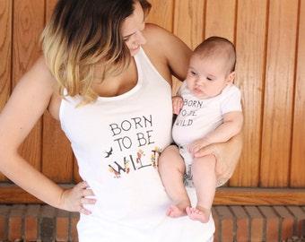 Born to be Wild Mama Tank + Baby Bodysuit Set