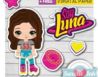 I'm Luna Kawaii Clipart Girl