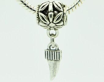 Silver Bracelet Charm, European Bracelet Beads, Silver Charm.