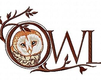 OWL WORD - Machine Embroidery Design