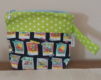 "Knitting or Crochet Project Bag ""Tucan Summer"", small size, socks size-Tote Bag knit or crochet ""Tucan Summer"", slim"