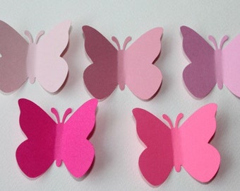 50 assorted butterflies/ butterflies confetti, table decorations / paper butterflies / butterflies embellishments / wishing tag/ gift tag