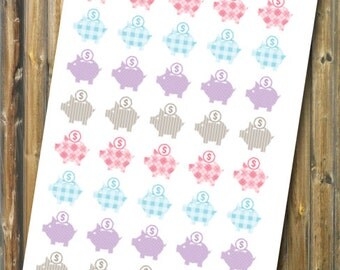 Piggy Bank Planner Stickers