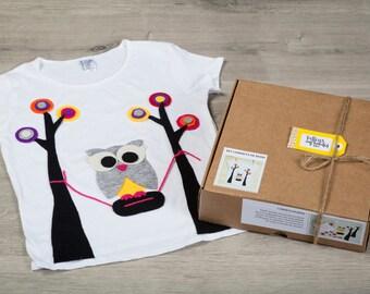 Kit child craft T-shirt OWL