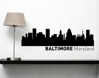 Baltimore City Skyline Vinyl Decal