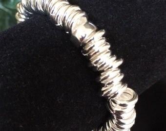 Silver Metal Loops Bracelet