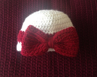 3 to 6 month handmade baby hat