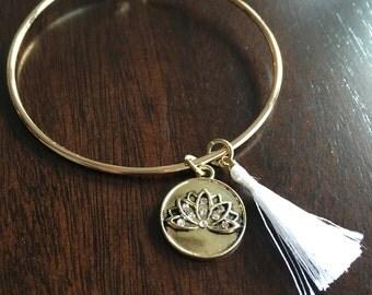 Golden Lotus Bangle