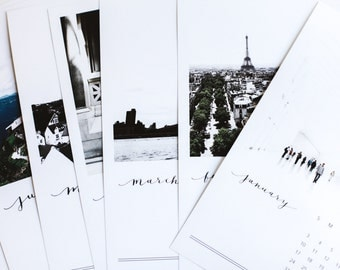 2016 Minimalist Photo Calendar with Calligraphy