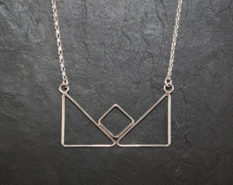 """Necklace """"triangles boat"""" pendant"""