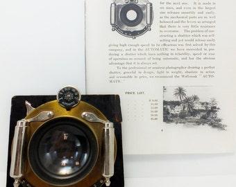 Antique Wollensak automatic standard double anastigmat F5.6 w/shutter & lens