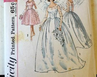 1962 Simplicity Wedding Dress Pattern 4893