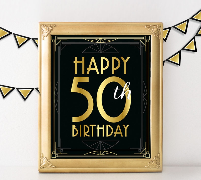 Birthday sign happy 50th birthday hollywood birthday party for 40 year old birthday decoration ideas
