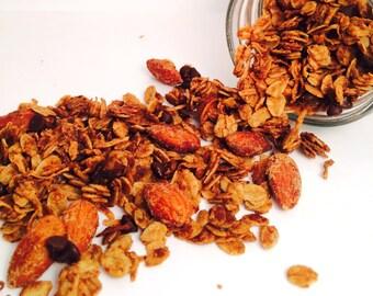 Almond Joy Granola, Vegan, Gluten Free, Almonds, Coconut, Chocolate, Mason Jar