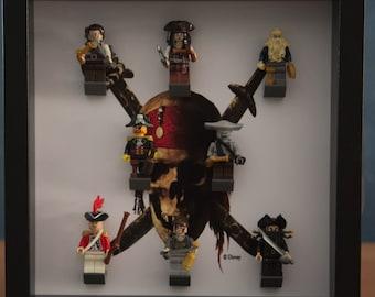 Pirates of the caribbean mini-fig display frame
