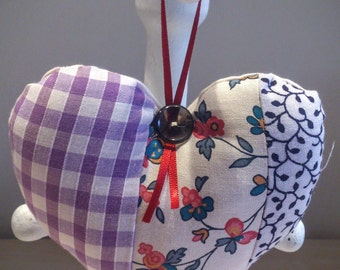 Patchwork Fabric Lavender Heart