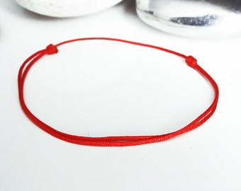 RED KABBALAH bracelet ReD Buddhist bracelet Thin slip knots red cord bracelet KABBALAH bracelet Red traditional cord Timeless hope jewelry