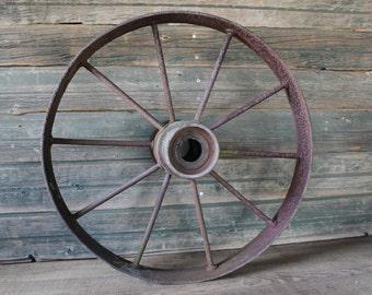 Vintage 1800s wagon wheels