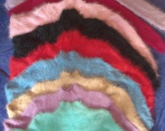 Crop Turtleneck Angora Sweater