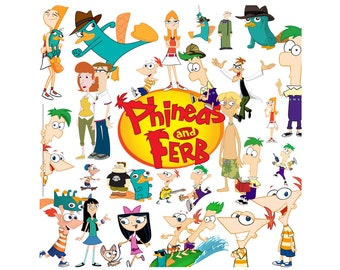 Phineas and Ferb 80 images clipart
