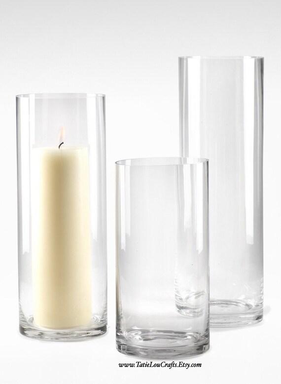 set of 3 glass cylinder vases wedding centerpiecebaby shower. Black Bedroom Furniture Sets. Home Design Ideas