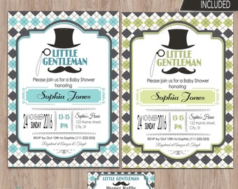 Little gentleman baby shower invitation, Little gentleman invitation, Baby shower invitation boy, baby shower for boy, little man invitation